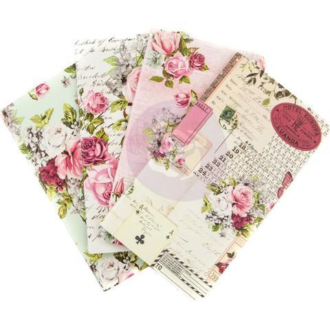 Набор внутренних блоков  (9,5х17 см) Prima Traveler's Journal Personal Refill Notebook -Misty Rose -4 шт