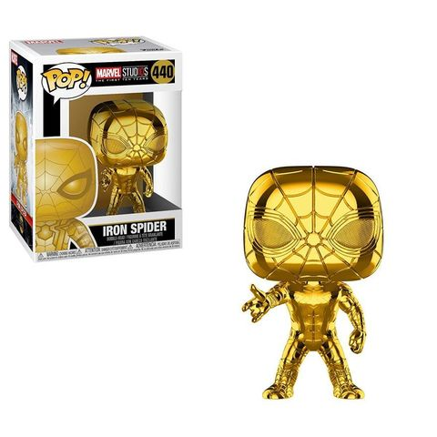 Фигурка Funko POP! Bobble: Marvel: MS 10: Iron Spider (Chrome) 38482