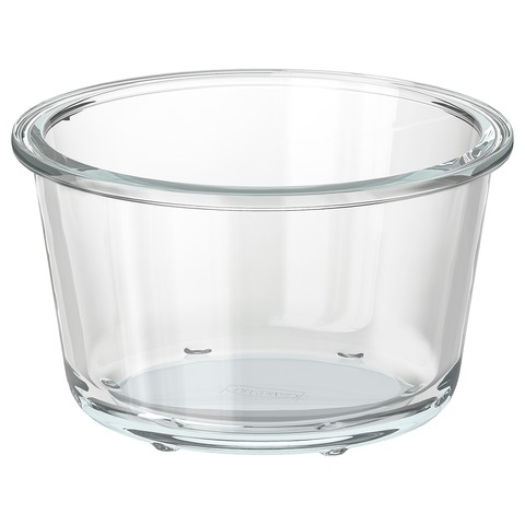 ИКЕА/365+ Контейнер для продуктов круглой формы, стекло