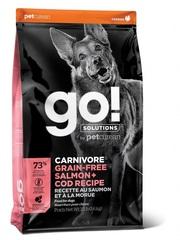 Корм для собак всех возрастов, GO! Natural holistic, GO! CARNIVORE GF Salmon + Cod Recipe DF, беззерновой, c лососем и треской