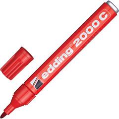 Маркер перманентный EDDING E-2000C/2 красный 1,5-3мм металл.корп.