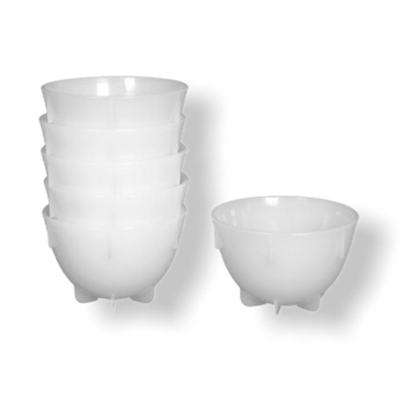 Чашки для каппинга - 24 шт, белый цвет