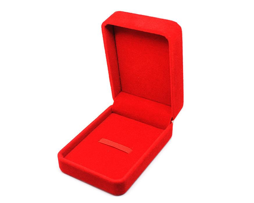 коробка бархатная красная big
