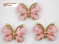 Декор Бабочки из камней розовые (уценка)