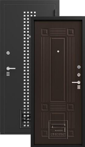 Дверь входная Зевс Z-5, 2 замка, 1,5 мм  металл, (чёрный шёлк+венге шёлк)