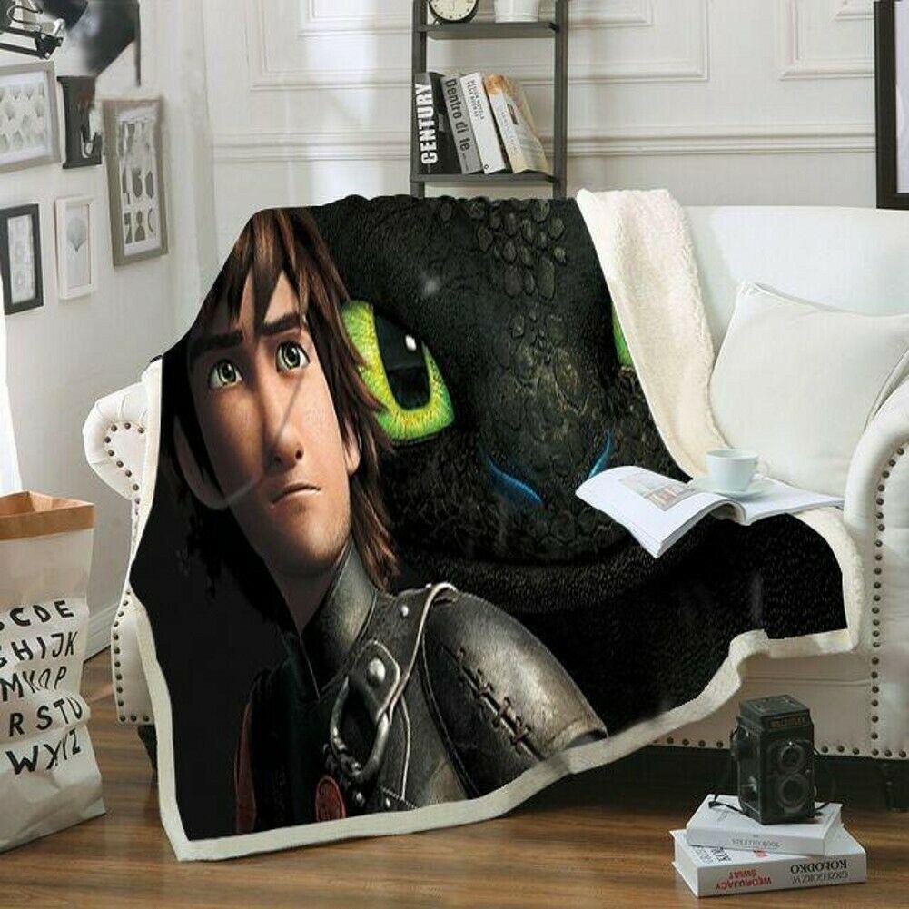 Как приручить дракона 3 одеяло детское