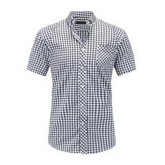 Мужская рубашка в клетку с коротким рукавом Slim Fit