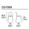 Calligaris CS_1359 P100 P100 — Стул BASIL