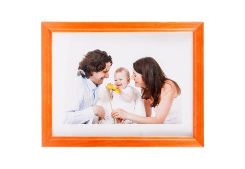 Фоторамка сосна  цветная 21х30 7N92 оранжевая