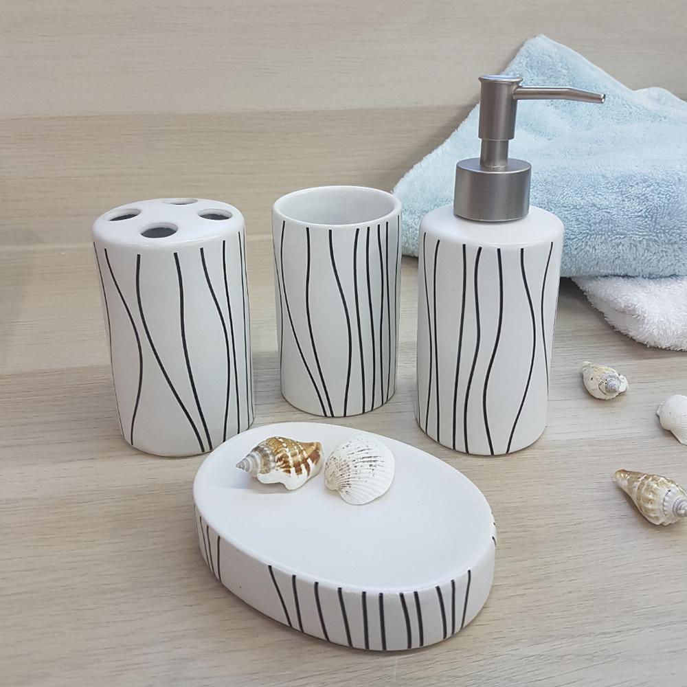 Ванный набор, керамика, белый.