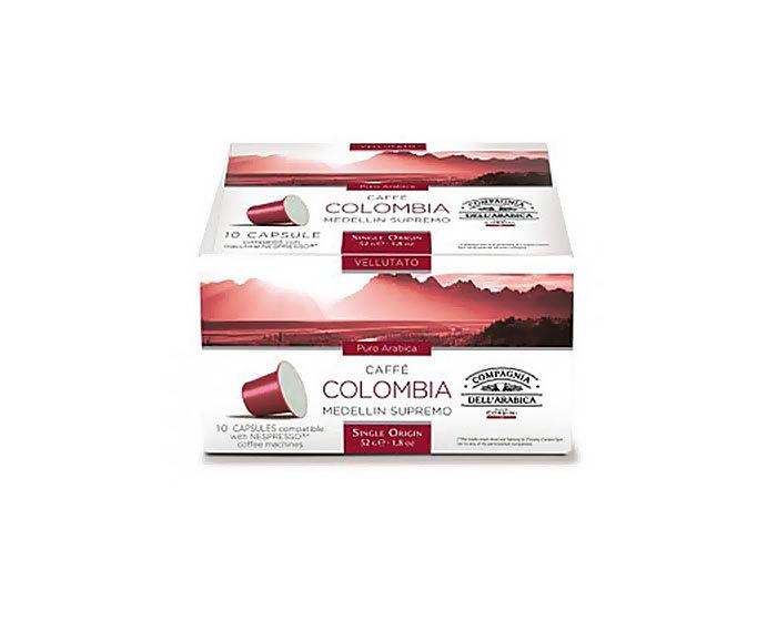 Кофе в капсулах Compagnia Dell'Arabica Colombia Medellin Supremo, 10 капсул (Компания Дель Арабика)