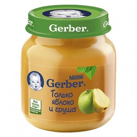 Gerber® Фруктовое пюре яблоко и груша 130 гр