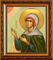 Иуния (Юния) Святая Мученица. Икона на холсте.