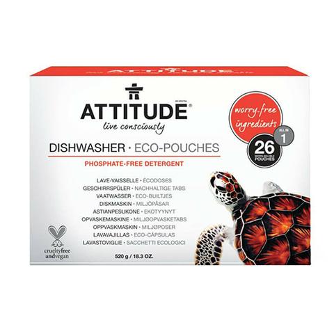 Таблетки для посудомоечной машины All in one 26 штук  Attitude
