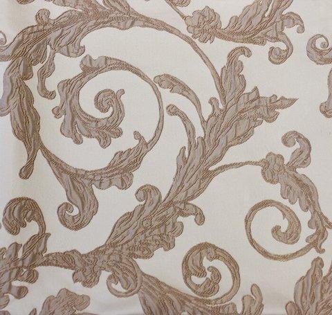 Портьерная ткань двухслойный жаккард Венеция кофе с молоком