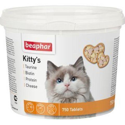 12595 Беафар Лакомство Китти Микс (витаминная смесь) д/кошек 750таб.*6