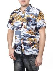 80160-4 рубашка мужская, серая