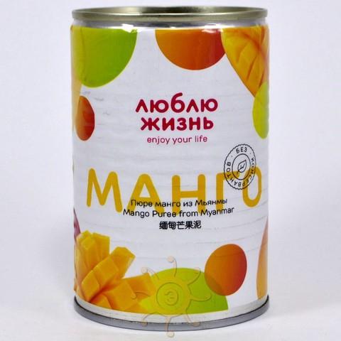 Пюре манго из Мьянмы Люблю Жизнь, 450г