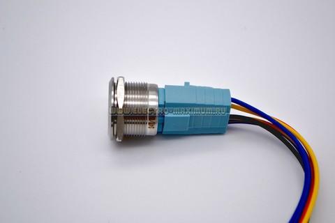Кнопка антивандальная из нержавеющей стали с подсветкой без фиксации 22мм IB22S-P11F-E/S