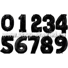 Шар цифра черная
