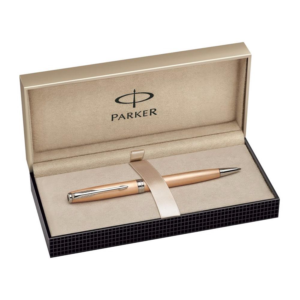 Parker Sonnet - PREMIUM Pink Gold CT Slim, шариковая ручка, M, BL