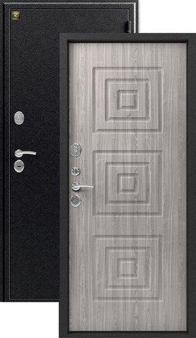 Дверь входная Зевс Z-4, 2 замка, 1,5 мм  металл, (серебро+серое дерево)