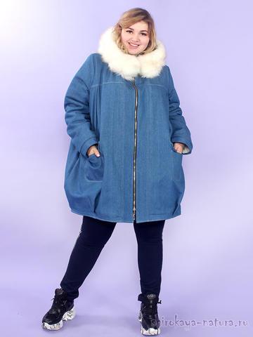 Джинсовая куртка на меху Амиго