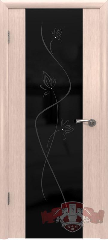 8ДО5 ТРИПЛЕКС черный, Дверь межкомнатная,Владимирская Фабрика Дверей
