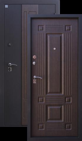 Дверь входная Алмаз Агат, 2 замка, 1,5 мм  металл, (медь антик+тиковое дерево)