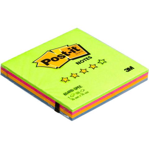 Стикеры Post-it 654-RB 76х76 Весен. радуга,100л