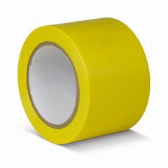 Лента для разметки ПВХ 75мм x 33м желтая (KMSG07533)