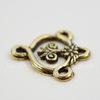 """Коннектор Quest Beads """"Папирус"""" (1-3) 18х17 мм (цвет-античное золото)"""