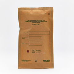 Крафт-пакеты Бумага, Коричневый 100х250 мм, 100 шт/упк