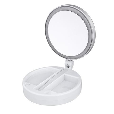 <p>Настольное двухстороннее косметическое зеркало с подсветкой и с ...