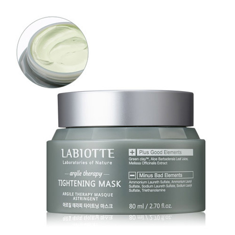 LABIOTTE ARGILE THERAPY Маска для лица поросужающая LABIOTTE ARGILE THERAPY TIGHTENING MASK 80ml