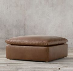 Cloud Slope Arm Modular Leather END-OF-SECTIONAL OTTOMAN