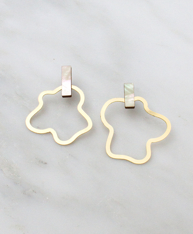 Серьги Aalto Earrings Mother of Pearl