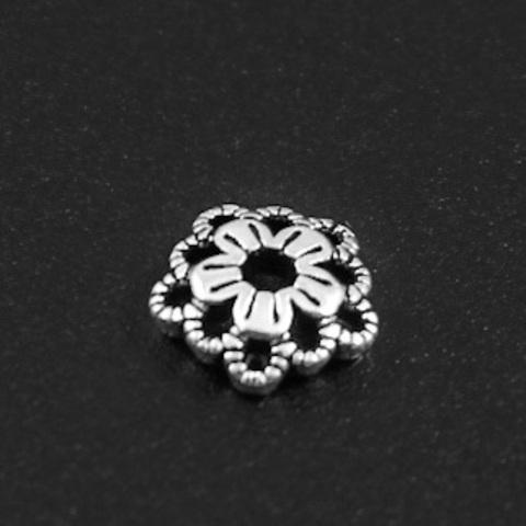 Шапочка Ирида 7 мм серебро 925 1 шт