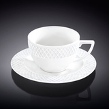 Набор: Чашка для капучино 170 мл с блюдцем, артикул WL-880106-JV, производитель - Wilmax
