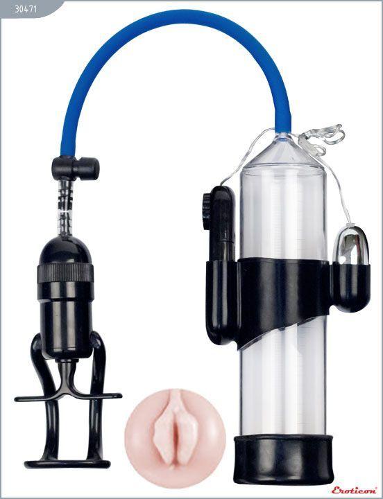 Вакуумные помпы: Вакуумная помпа Eroticon PUMP X7 с мини-вагиной и вибрацией