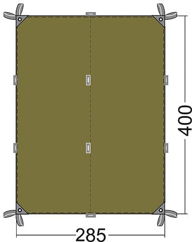 Универсальный тент Tatonka Tarp4 (4x2,85м)