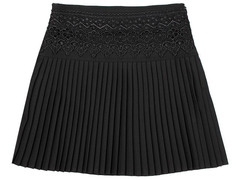 X236 юбка для девочек, черная