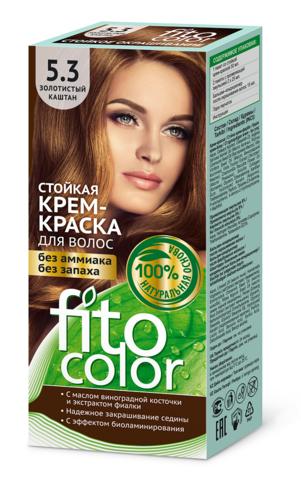 Фитокосметик Fito Color Стойкая крем-краска для волос тон Золотистый каштан 115мл