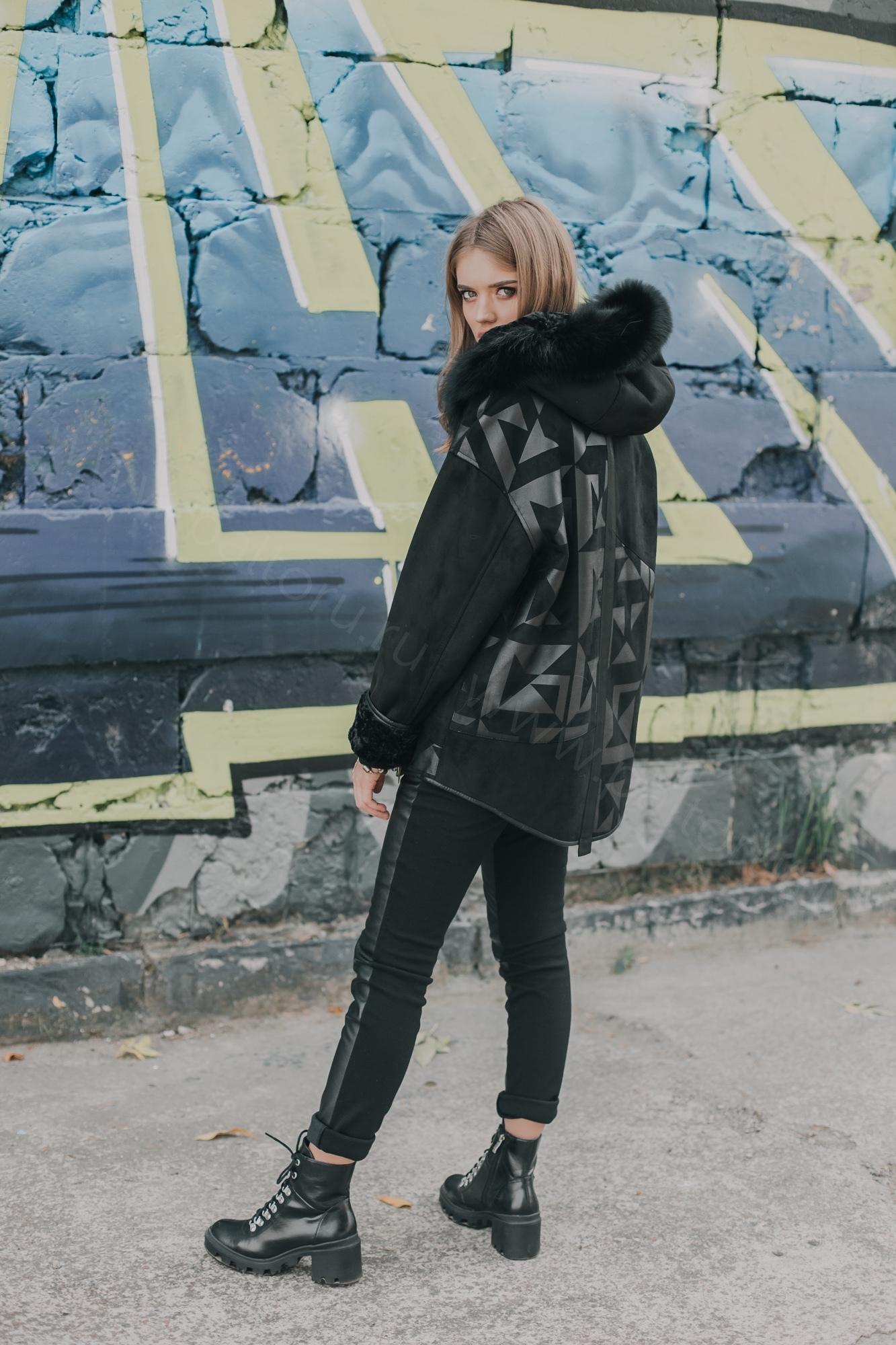 Куртка-Дуб женское Зима(Мех)