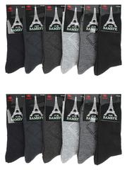 B06 носки мужские 42-48 (12 шт.) цветные