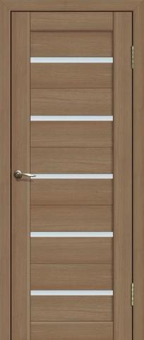 Дверь Fly Doors L-26, стекло матовое, цвет тиковое дерево 3D, остекленная