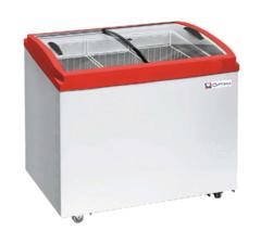 Ларь морозильный  OPTIMA 350Е PRIME ( с гнутым стеклом ) (936х632х775h, кВт.ч./сут3,6)
