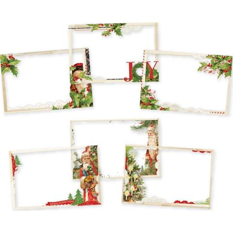 Набор цветных оверлеев Simple Vintage Christmas Transparencies 10х15см  - 6 шт.