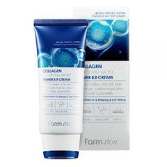 Farmstay Collagen Water Full Moist Primer BB Cream - Увлажняющий ВВ-крем для лица с коллагеном