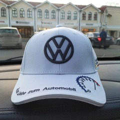 Бейсболка Фольксваген белая (Кепка Volkswagen)